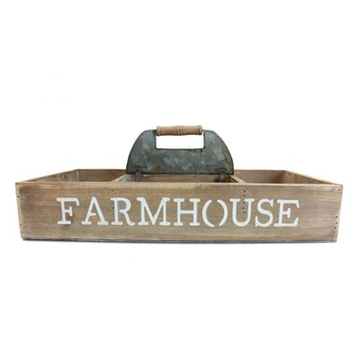 Imagen de Farmhouse Wood Storage Box