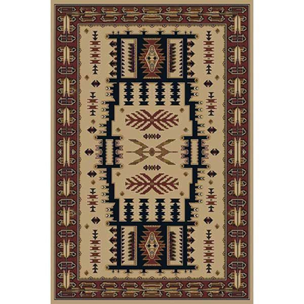 Rustic Rug Country: Mountain Country Rustic Linen 5x8 Rug