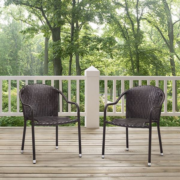 Picture of PALM HARBOR OUTDOOR WICKER STACKABLE CHAIRS - SET