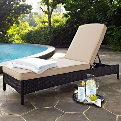 Picture of PALM HARBOR OUTDOOR WICKER CHAISE LOUNGE IN BROWN