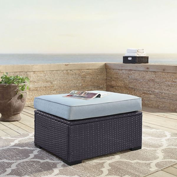 Picture of BISCAYNE OTTOMAN MIST