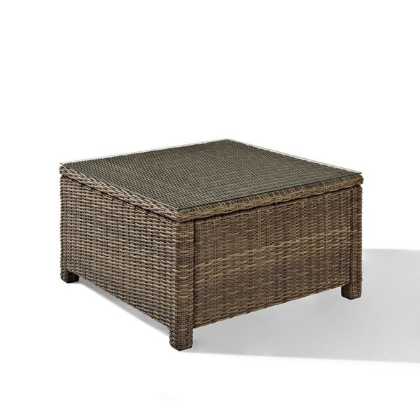 Picture of BRADENTON OUTDOOR WICKER SECTIONAL GLASS TOP COFFE
