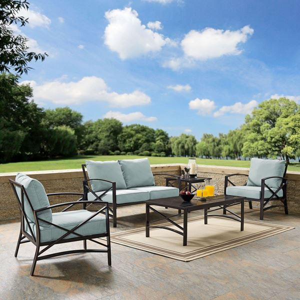 Picture of KAPLAN 5 PC OUTDOOR SEATING SET WITH MIST CUSHION