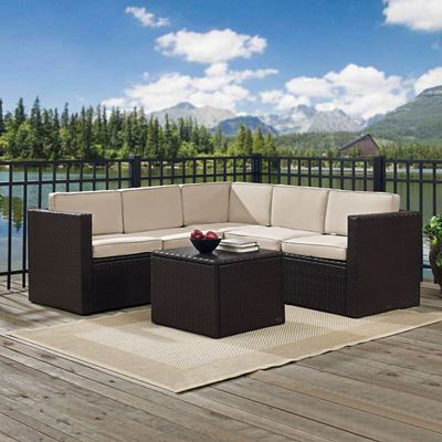 Picture of PALM HARBOR 6 PIECE OUTDOOR WICKER SEATING SET WIT