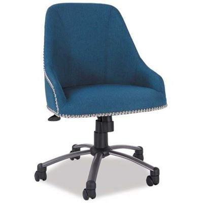 Picture of Blue Linen Swivel Chair