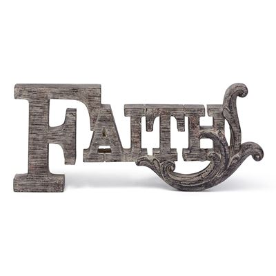 Picture of Faith Typographic Decor