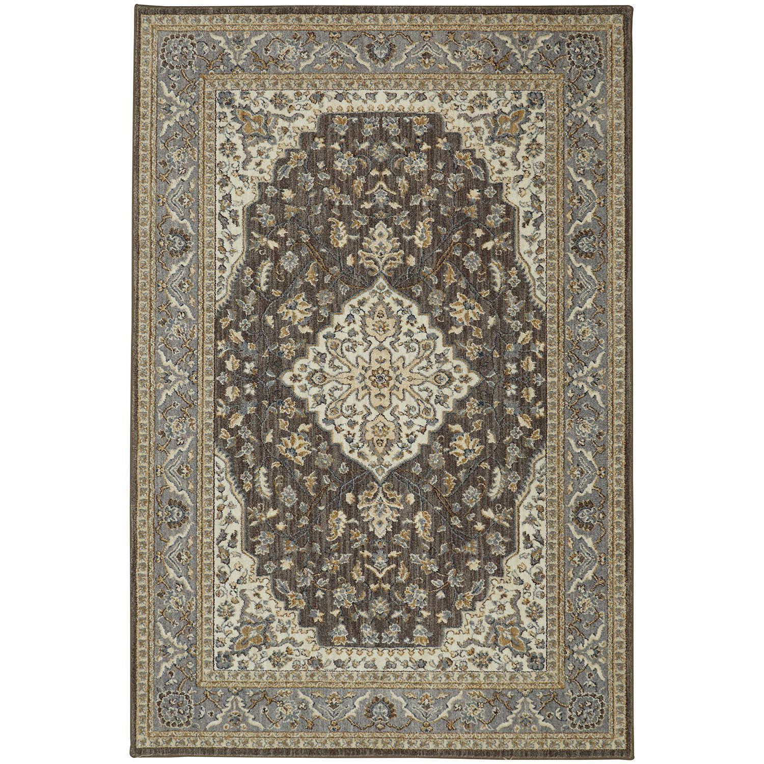 Kham Grey And Brown Traditional 8x10 Rug