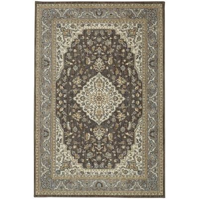 Imagen de Kham Grey and Brown Traditional 8x10 Rug
