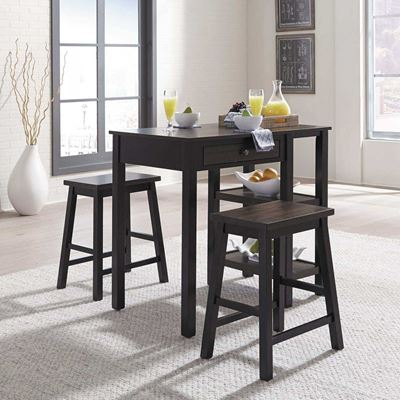Picture of Eaton 3 Piece Black Counter Height Set