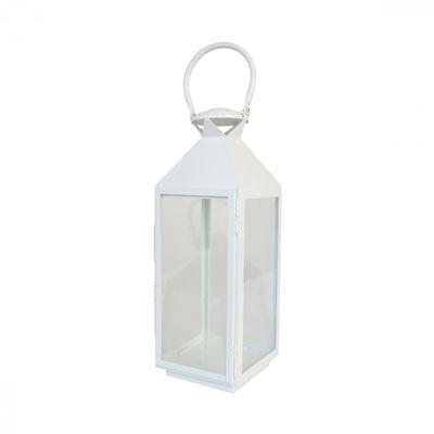Imagen de White Metal Lantern