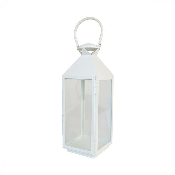 Foto para White Metal Lantern
