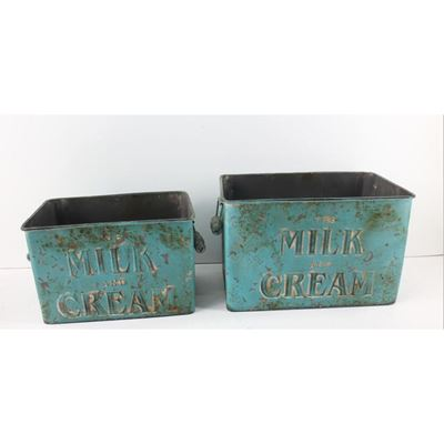Picture of Set of Two Blue Milk and Cream Boxes