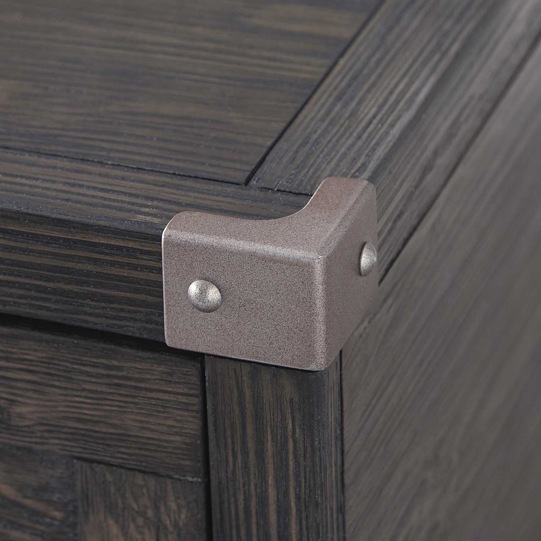 Ashley Furniture Todoe Dark Gray Rectangular End Table