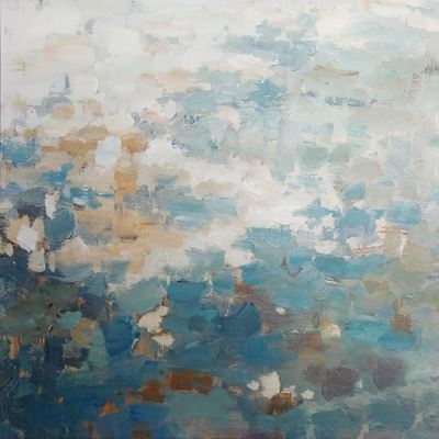 Picture of Soft Blue Abstract Wall Decor