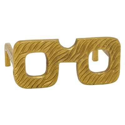 Picture of Square Gold Glasses Sculpture