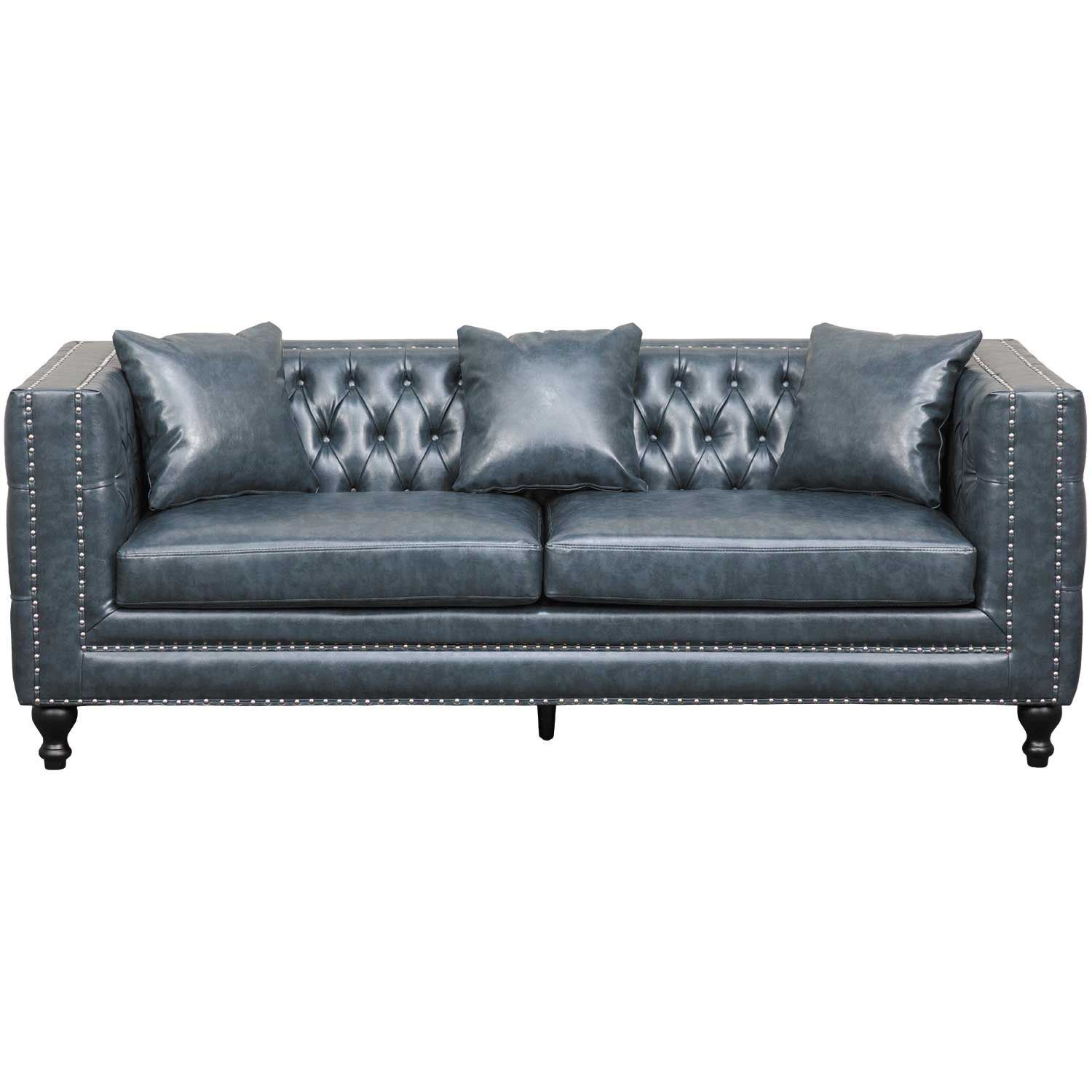 Picture Of Kingsley Tufted Navy Sofa