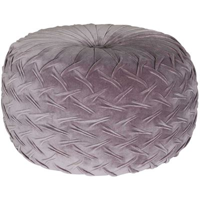 Picture of Velvet Pouf in Grey