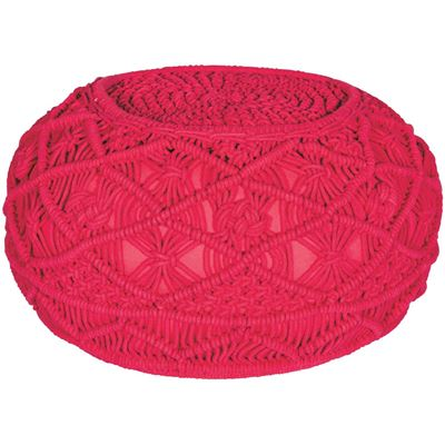 Picture of Kosala Pouf in Lychee Red