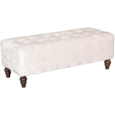 Picture of Audra Cream Tufted Ottoman Bench