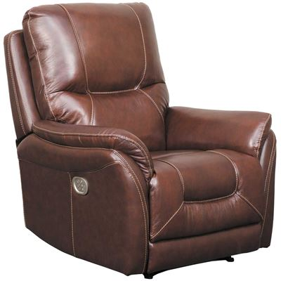 Picture of Stolpen Walnut Leather Power Recliner
