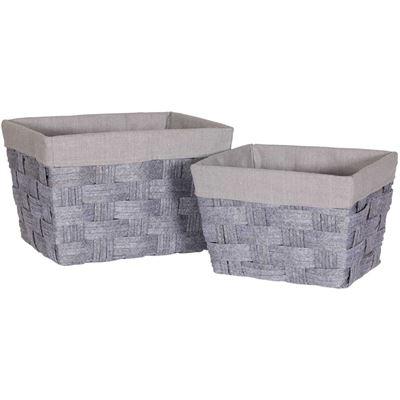 Imagen de Set of Two Woven Felt Baskets