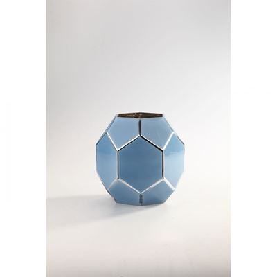 Picture of Blue Glass Round Vase