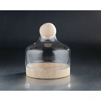 Imagen de Clear Glass Jar With Lid