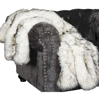 Picture of 40x60 Black Bear Faux Fur Throw