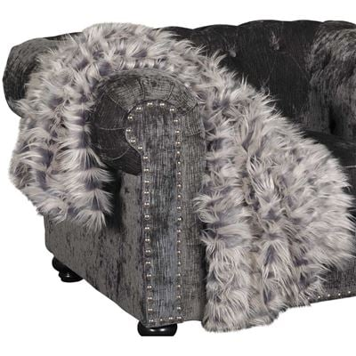 Imagen de 40x60 Zazu Gray Faux Fur Throw