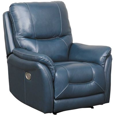 Picture of Stolpen Navy Leather Power Recliner