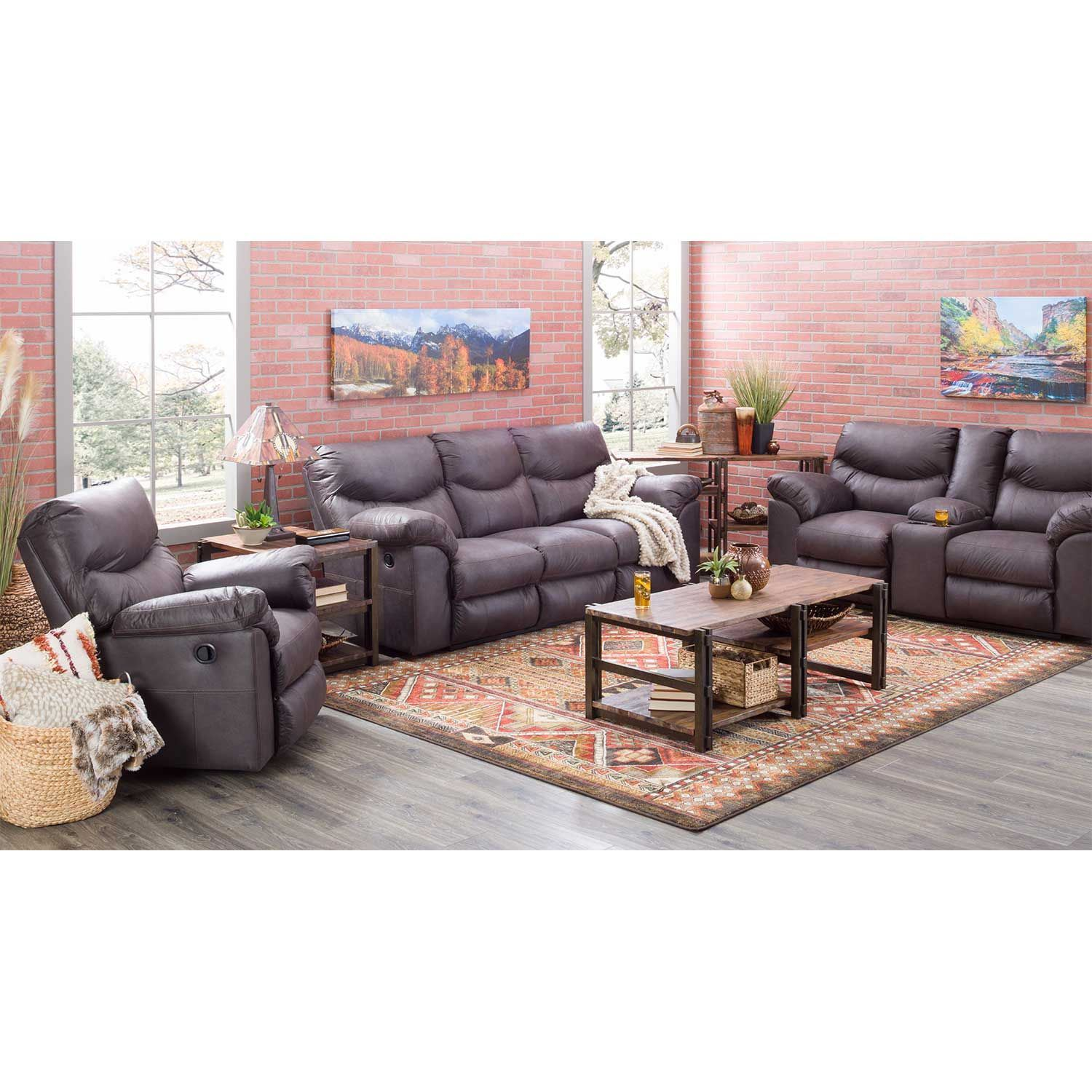 Boxberg Teak Reclining Sofa 3380388 Ashley Furniture Afw