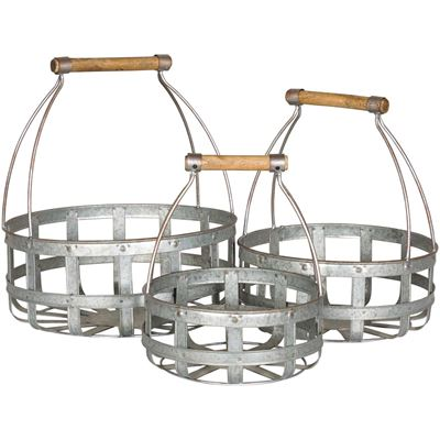 Picture of Set of Three Metal Baskets