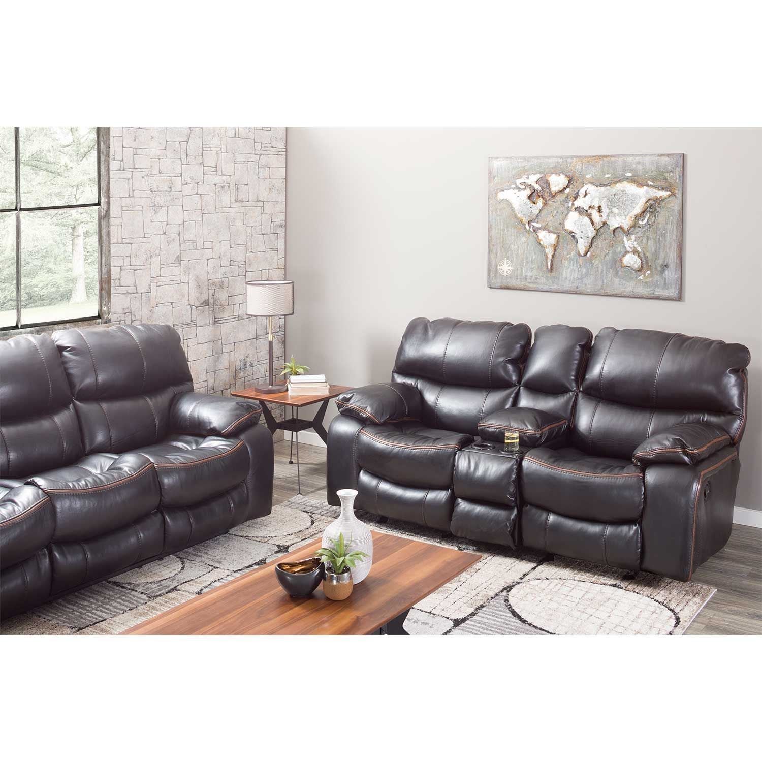Picture Of Camden Black Reclining Sofa