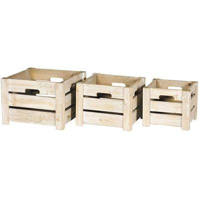 Imagen de Set of 3 Wooden Crates