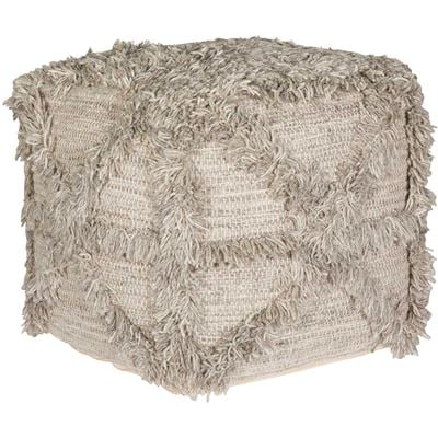 Picture of Bardon Grey Hand Woven Wool Pouf