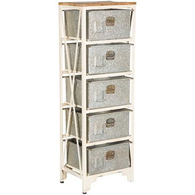 Imagen de Vintage Five Drawer Storage Chest