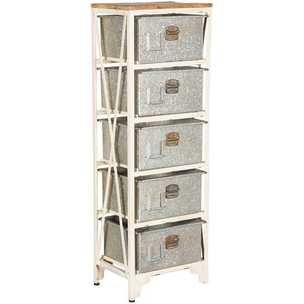 Foto para Vintage Five Drawer Storage Chest