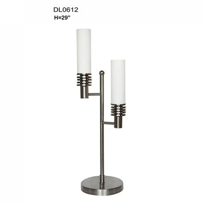 "Picture of Two Tube 29"" Nickel Table Lamp"