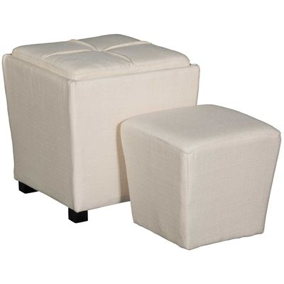 Picture of 2 PIECE OTTOMAN SET, IVORY