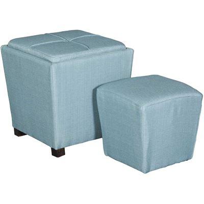 Picture of 2 PIECE OTTOMAN SET, BLUE
