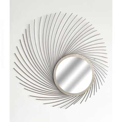 Picture of Metal Wispy Silver Wall Mirror