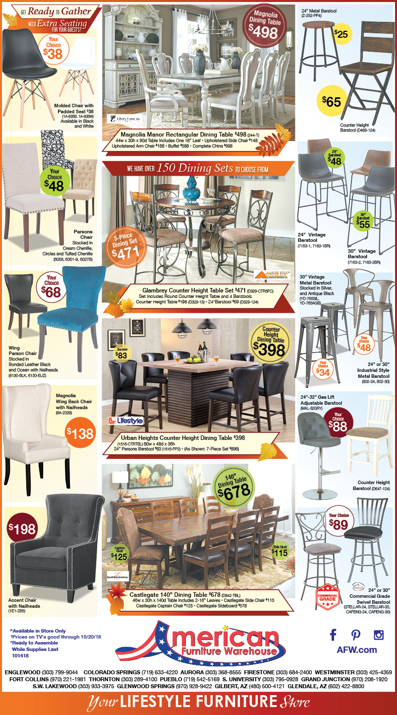 Fall Clearance Event Denver newspaper ads for beds, couches, accent, chairs and more | Lowest prices on furniture.