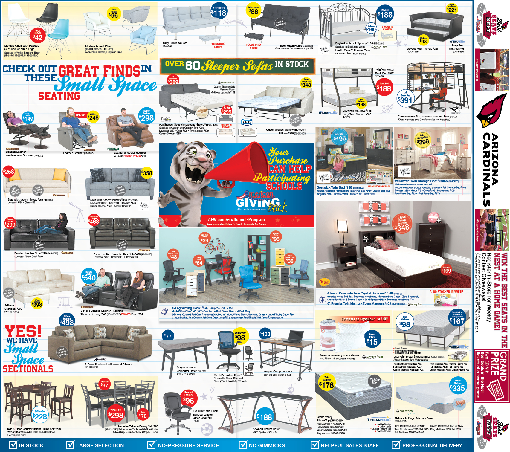 Arizona Hot Summer Savings Ads | Hot Buys & Large Selection in Mattresses and furniture