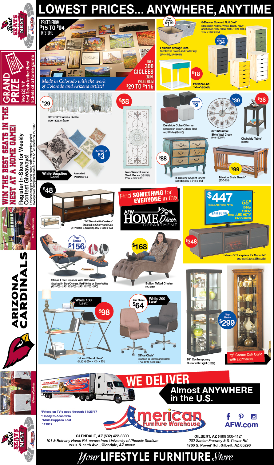 Arizona Furniture Ads | Lowest Prices on Furniture
