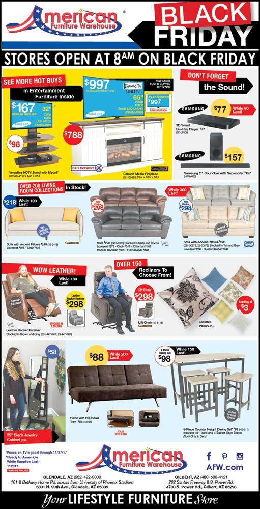 Arizon's Black Friday Furniture Ad | Lowest Prices on Furniture
