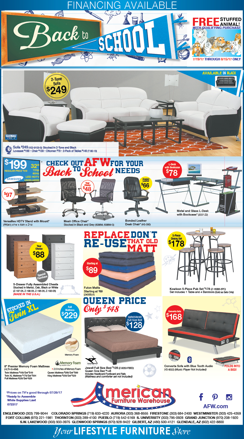 Hot Summer Savings in Denver Ad | Best prices on furniture