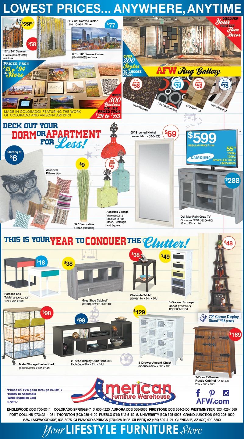 Hot Summer Savings on Furniture Newspaper Ads | Lowest Prices on Furniture
