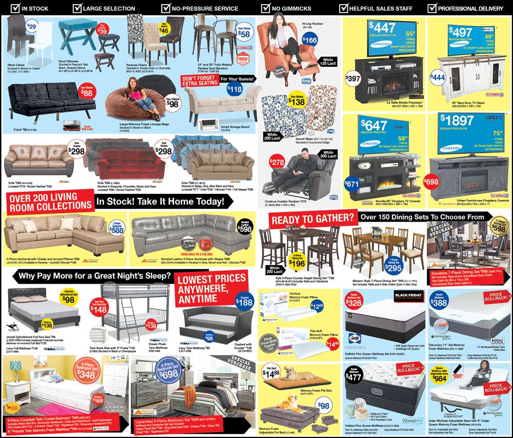 Black Friday Ad for Sleeper Sofas, Beds, Patio Furniture & More | Best Prices on living room furniture