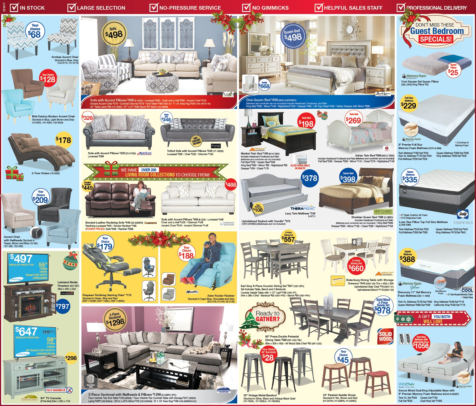 Hot Summer Savings Newspaper Ad | Best Prices on living room furniture