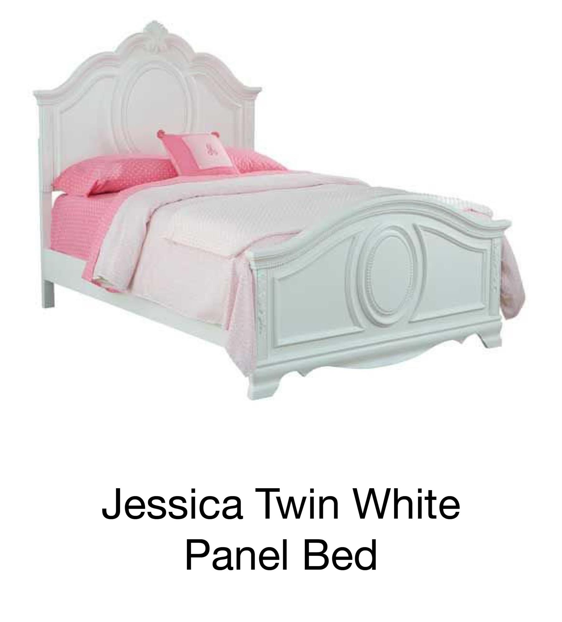 Jessica Twin White Panel Bed
